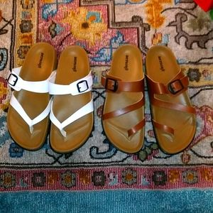 Final price $ Aerosoft Sandals 2 pairs for 1 price